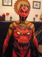 hell body painting by gamerosfx