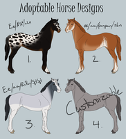 Adoptable Horse Designs EDIT by ReaWolf