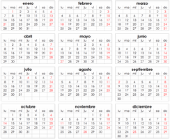 Calendario Png by mituesposito