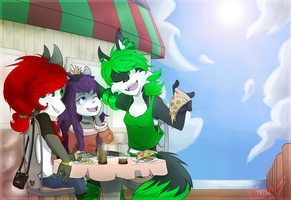 Pizza at the Pier by Divert-S