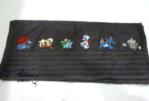 Pokemon towel 2 by Aedes-cosplay