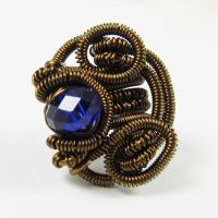 Blue and Brass Ear Cuff by sylva
