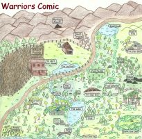 Warriors Territory Map Colored by awcomicart