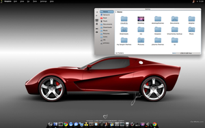 KDE Dolphin is awesome! Toolbar on Left Side by CraazyT