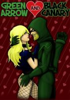 Green Arrow and Black Canary by malizlewa