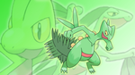 Treecko, Grovyle, and Sceptile Wallpaper by Glench