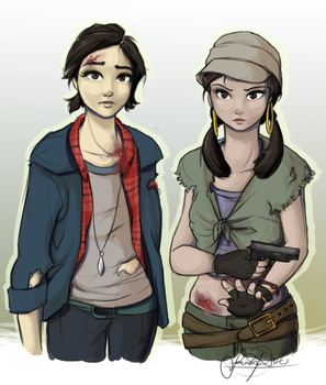 Tara and Rosita by Curly-Qs