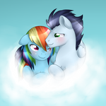 Rainbow Dash and Soarin by Kitsunewolf95