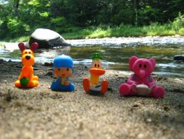 Pocoyo and Friends: River Sand by joshmb509