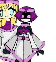 Me and my medabot OC by AngelXLight