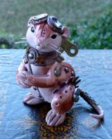 Gadget - Steampunk mouse sculpture by MysticReflections
