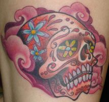 Pink Sugar Skull by JasonBlanton