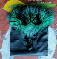 Green Fox Belt Bag by lupagreenwolf