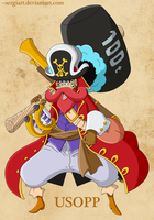 One Piece film Z - Usopp by SergiART