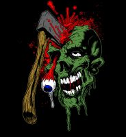 Axed Zombie by Tyger-graphics