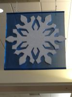 Blue and White Snowflake by NINJAWERETIGER