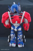 Optimus Prime Plush Back by Kaysiel