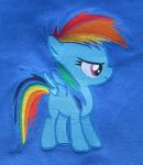 Rainbow Dash as a Filly embroidered by imageconstructor