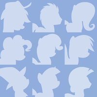 Youtube Default Pony Avatars by Lahirien