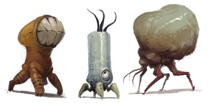 Creature Sketch Trilogy by fightpunch