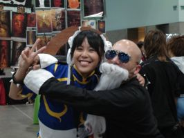 AX 2011 Master Roshi 'N' Chun Li are fwendz... by LordKojay
