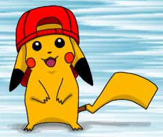 Pika-Pi and Ash's Hat by kelly42fox
