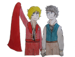 Enjolras and Grantaire by GreenDayFanGirl