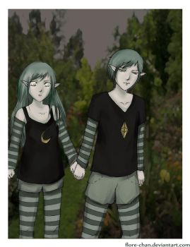Twins spotted by Flore-chan