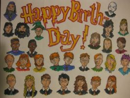 Happy Birthday Harry Potter by Becca-bird