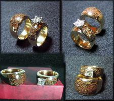14K Gembone Wedding Set by jessa1155
