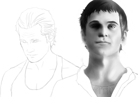 Eric and Godric WIP by KiwiPhoenix
