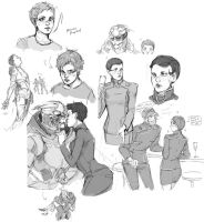 Mass effect sketch dump by Aedsu