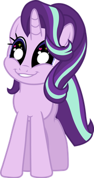 Starlight Glimmer (wonder face vector) by davidsfire