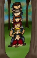 Totem pole colored by AM-FFS