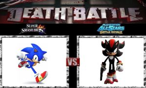 Death Battle Sonic vs Shadow by Werewolf-Hero
