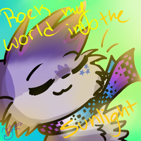 Rock my word into the sunlight by Violetkay214