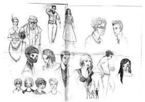 Good Omens Sketches by valo-rose