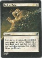 MTG Card Alter Path to Exile by ZeyoZx