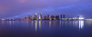 Downtown San Diego CityScape 4 by Zalmero