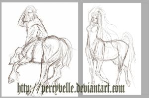 Centaurs - WIP by Percyvelle