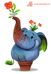 Daily Paint #1173. Elephlant by Cryptid-Creations