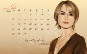 July wp - Keira Knightley by borpan
