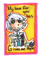 Valentine Card: Hope by HappehCakes