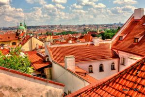 The Roofs Of Prague by the13wizard