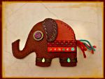Recycled leather elephant purse by moonwolf17
