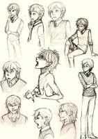 Sirius and Remus sketchdump by Fuon-Shiheki
