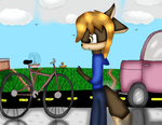 Art Trade- Ethan's Bike Find by MyMelodyOfTheHeart