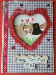 Handmade Fluffy Sloth Couple Valentine's Card by PossumPip-Creations