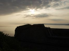 Sunset at Polhawn Fort by squishy2004