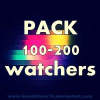PACK 100-200 WATCHERS! [Zip] by LuuEditions16